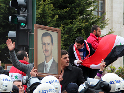 Manifestación a favor de Bachar Asad en Estambul (2012) |  © I. U. T./ M'Sur