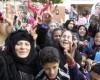 Mujeres aclaman al general Al Sisi en un colegio electoral | ©  Miguel Ángel Sánchez