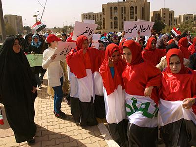 Manifestación de mujeres en Bagdad (2012)  ©  Karlos Zurutuza
