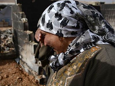 Refugiada siria en Arsal (Líbano), Dic. 2014 | ©  Laura J. Varo