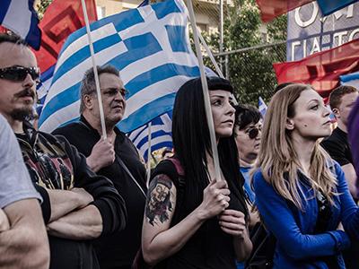 Manifestación electoral de Amanecer Dorado (Mayo 2014) | © Clara Palma / M'Sur