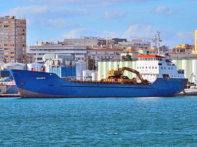 El buque Mamo, hoy Haddad-1, en Málaga (Nov. 2014)   © Ventuari / Cedido a M'Sur