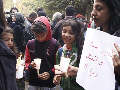 Protesta por la muerte de Giulio Regeni. El Cairo (Febrero 2016) | © Alicia Alamillos