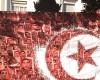 Pancarta de FTDES, una asociación por los derechos económicos y sociales, en Túnez (Ene 2016) |   © Elena González