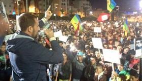 Nasser Zafzafi, activista, en una protesta de Alhucemas (Nov 2016)   © Elena González