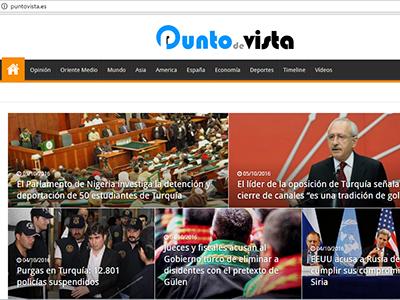 Portada de diario digital gülenista Punto de vista   Pantallazo