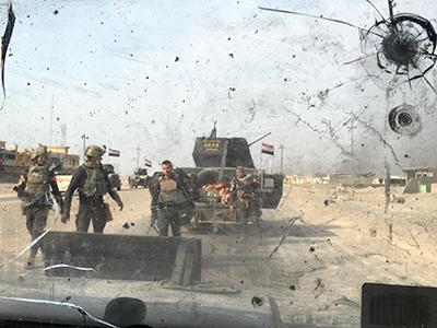 Escena de la ofensiva contra Daesh ante Mosul (2016) | © Jewan Abdi