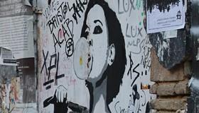 Graffiti anarquista en el barrio de Exarcheia en Atenas (2016) | © Helena Vázquez