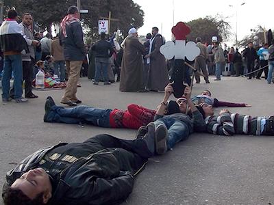 Protesta de coptos en El Cairo (2011) | © Eva Chaves / M'Sur