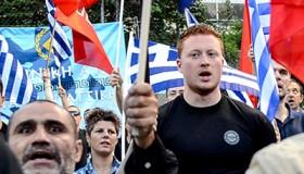 Manifestación de Amanecer Dorado (Atenas, Mayo 2014) | © Clara Palma