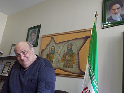 Ciamak Morsadegh en su oficina en Teherán (Mayo 2017) | © Lluís Miquel Hurtado