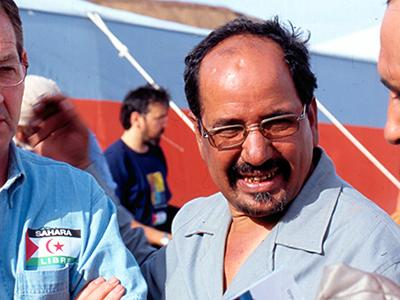Mohamed Abdelaziz, líder del Frente Polisario (Tinduf, 2004) |   © Ilya U. Topper/M'Sur