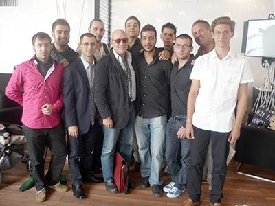 Estudiantes autores del documental sobre L'Aquila en Venecia (2010) |  © María José Ramírez / M'Sur