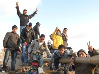 Rebeldes libios cerca de Bengasi  (Feb 2011) |   ©  Daniel Iriarte