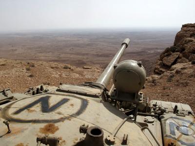 Posición rebelde en los montes Nafusa, Libia (Jul 2011)     ©  Daniel Iriarte