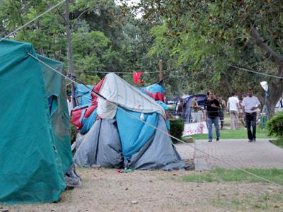 Acampada de protesta en Túnez (Agosto 2011) |  ©  Javier P. de la Cruz