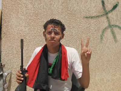 Rebelde amazigh en Zintan, Libia  (Ago 2011) |   ©  Daniel Iriarte
