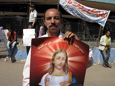 Protesta copta en El Cairo  (Mayo 2011) |©  Daniel Iriarte