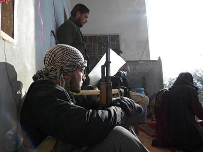Rebeldes sirios en la zona de Idlib (Dic 2011) |  © Daniel Iriarte