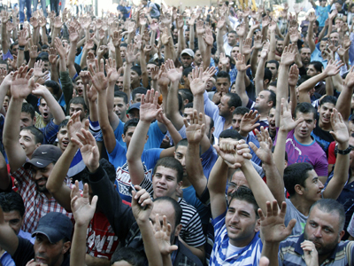 Protestas en Ramalá por el coste de vida. 2012 | ©  Carmen Rengel/M'Sur