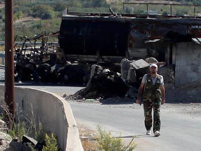 Control rebelde entre Alepo y Lataquía (Oct 2012)    © Ethel Bonet