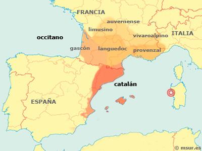 Catalan - Occitano. Difusión y dialectos