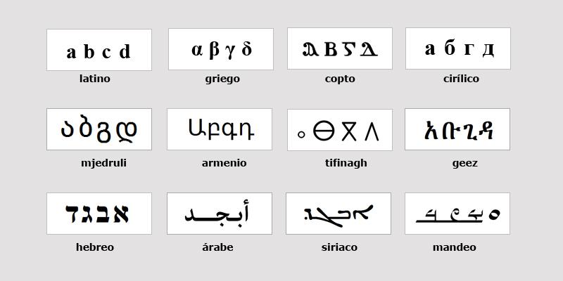 alfabetos lista