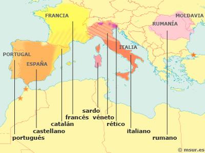 lenguas románicas, romance