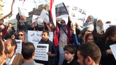 Las egipcias salen a celebrar el primer 8 de marzo tras la revolución. Daniel Iriarte