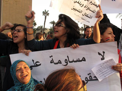 Manifestación del 8 de Marzo en Tahrir, El Cairo. 2011 | © Daniel Iriarte/M'Sur