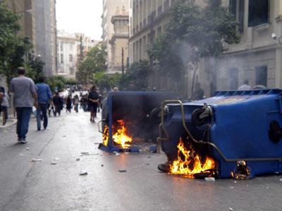 Protestas contra la crisis en Grecia (May 2010) | © Darío Menor / M'Sur