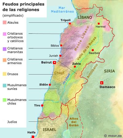 libano-religiones