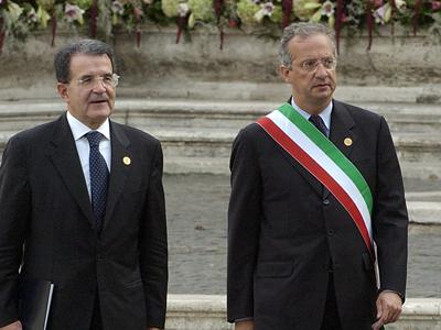 Romano Prodi (izda.) y Walter Veltroni (2004) | © Comisión Europea