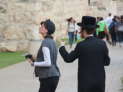 Pareja de judíos ultraortodoxos en Jerusalén (2013) |   © I.U.T. / M'Sur
