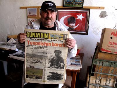 Colono turco en el norte de Chipre, 2010 © Daniel Iriarte/M'Sur