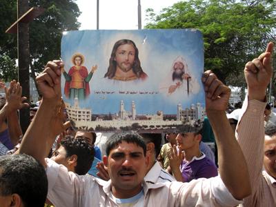 Manifestación de coptos en El Cairo (2011)  | ©  Daniel Iriarte /M'Sur