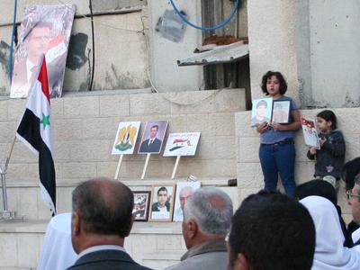 Manifestación pro Asad en Majdal Shams, Golan (Abril 2012) | © Laura F. Palomo