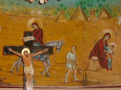 Fresco en una iglesia copta de El Cairo | © Eva Chaves