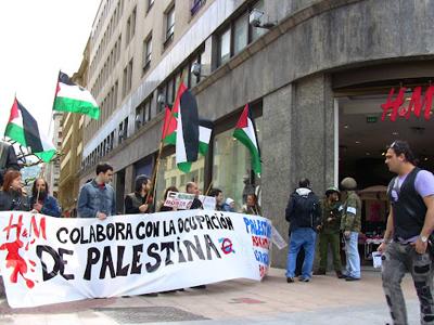 Manifestación por el boicot a Israel ante una tienda H&M de Madrid | Cedida por Campaña BDS