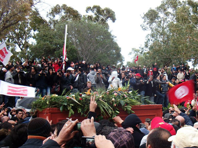 Funeral de Chokri Belaïd en Túnez (Feb 2013)  | © Oussama Bel Aïba