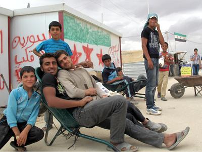 Refugiados sirios en el campo de Zaatari (2013)  | © Laura F. Palomo