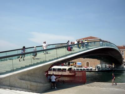 El 'Puente Calatrava' en Venecia (2010) |   ©  M. J. Ramírez