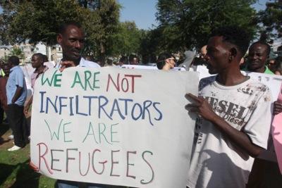 Manifestación de africanos en Tel Aviv, enero de 2014 | ©  Carmen Rengel