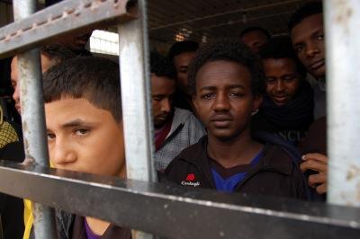Centro de detención de inmigrantes en Gueryán, al noroeste de Libia  | © Laura J. Varo