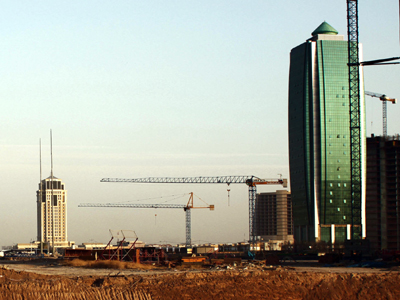 Construcción del complejo 'Empire World' en Erbil (Nov 2013) |  © Ethel Bonet