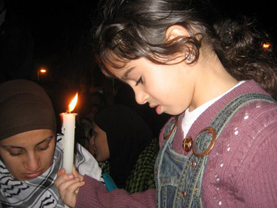 Manifestación israelí-palestina por la paz |  | © Gush Shalom