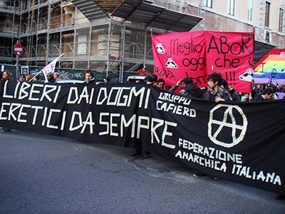 Manifestación anarquista en Roma (Feb 2008)  |  © Stefano Bolognini