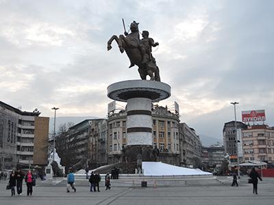 Estatua de Alejandro Magno en Skopie (2012) |  © Irene Savio