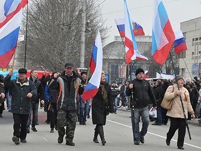 Manifestación prorrusa en Simferópol (Marzo 2014)   |  © Irene Savio