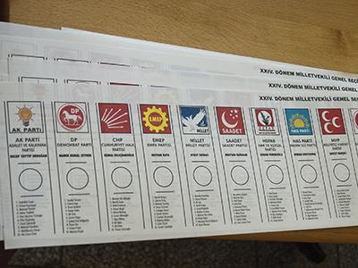 Papeleta de las elecciones generales turcas de 2011  | © Ilya U. Topper